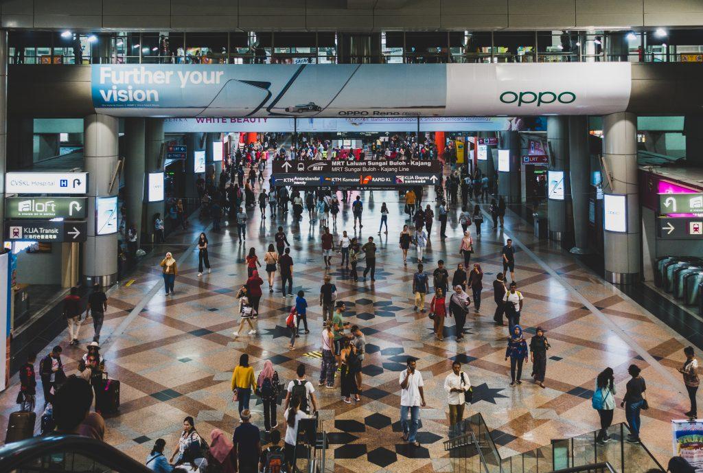 「宇宙中心」KL Sentral 大堂,可乘坐吉隆坡所有路线